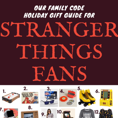 Holiday Gift Guide For Stranger Things Fans Our Family Code