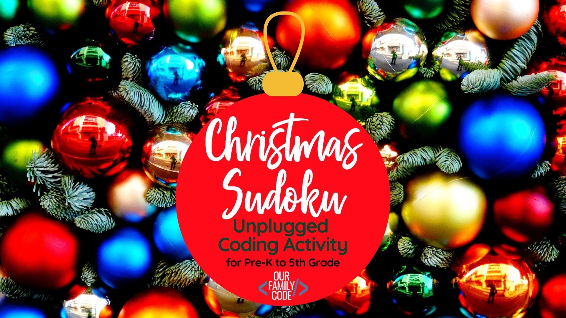 K On Christmas.Christmas Sudoku Logical Reasoning Activity For Kids