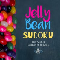 Jelly Bean Sudoku Logical Reasoning Activity for Kids